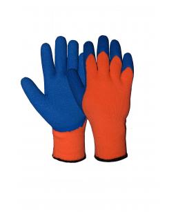 Перчатки акрил, рельеф. латекс, оранж, 10 кл