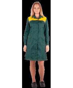 Халат КМ-10 ЛЮКС-ЖЕН (зеленый-желтый)