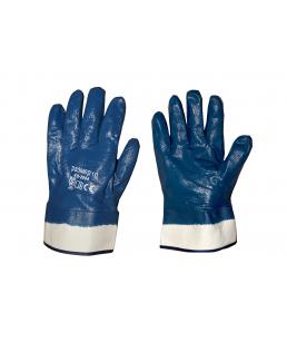 Перчатки нитриловые полный облив крага