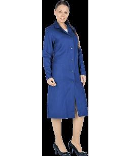 Халат рабочий ДИАГОНАЛЬ (синий), женский