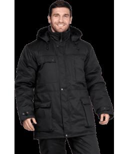 Куртка Защита утепленная, черная